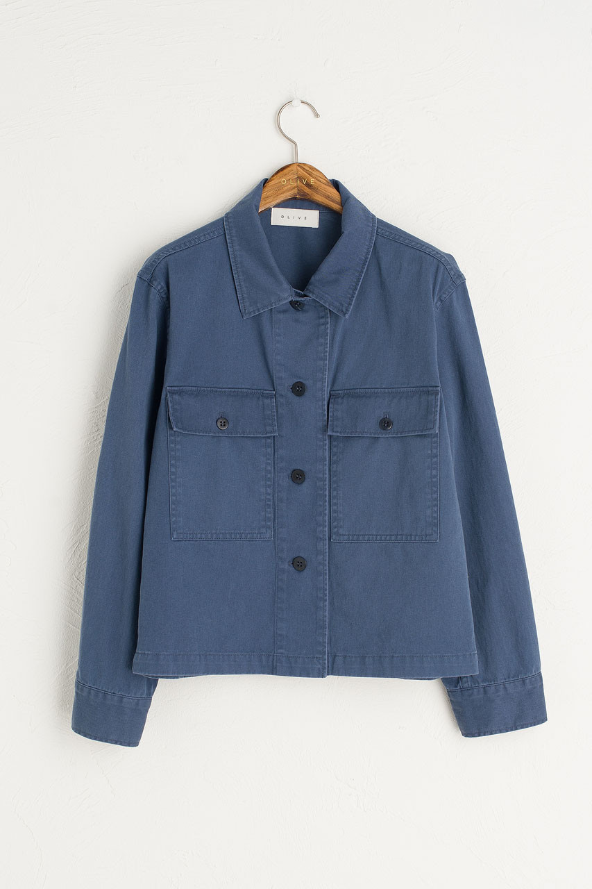 Gaby Pocket Work Jacket, Blue