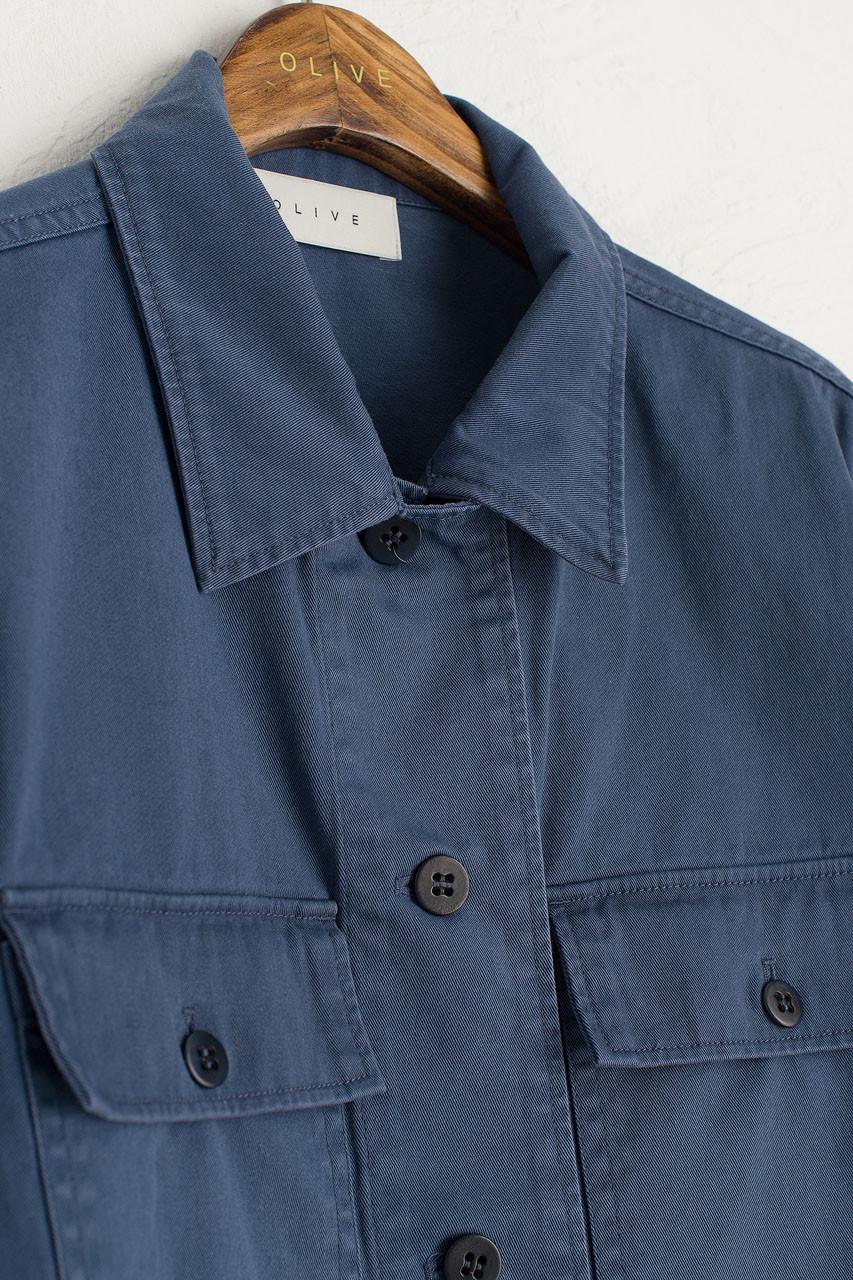 Gaby Pocket Work Jacket, Blue