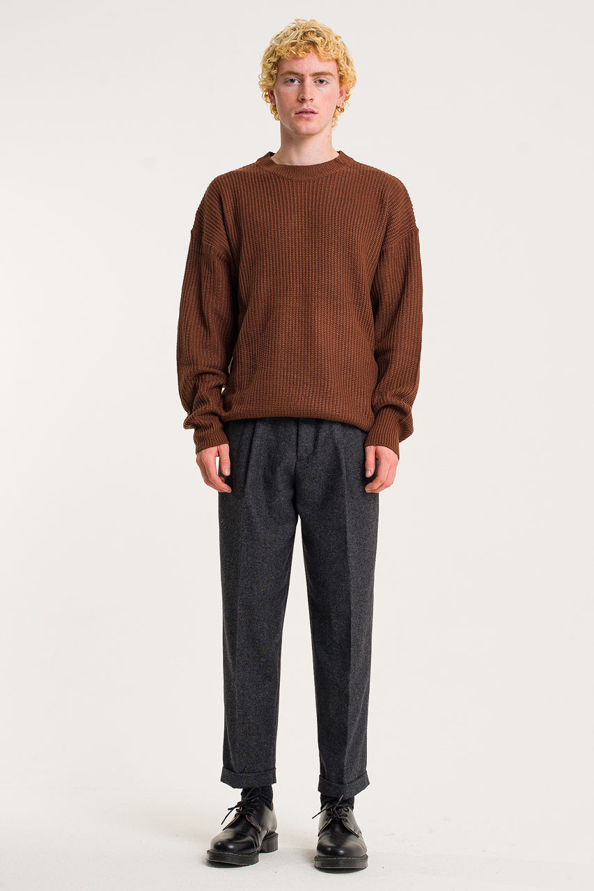Menswear | Fisherman Jumper, Cinnamon