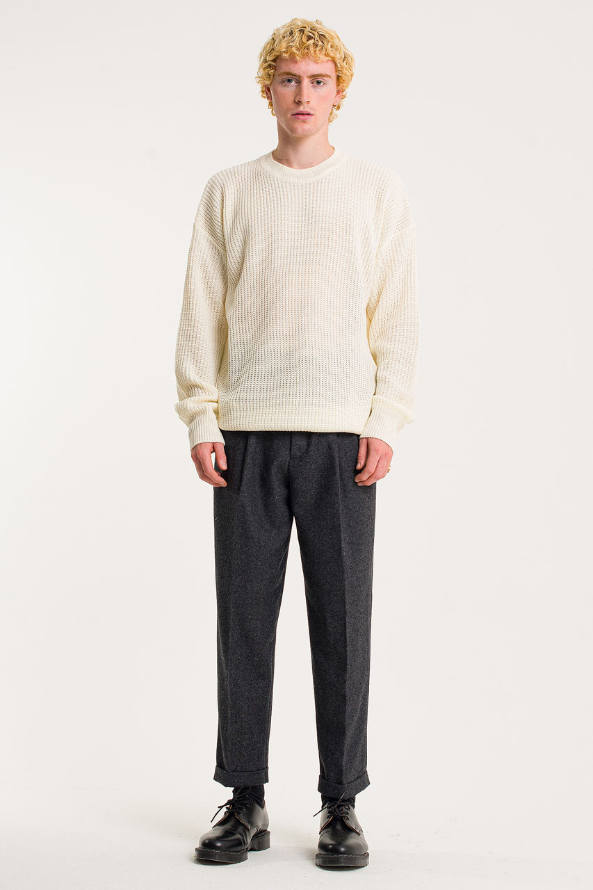 Menswear | Fisherman Jumper, Ivory