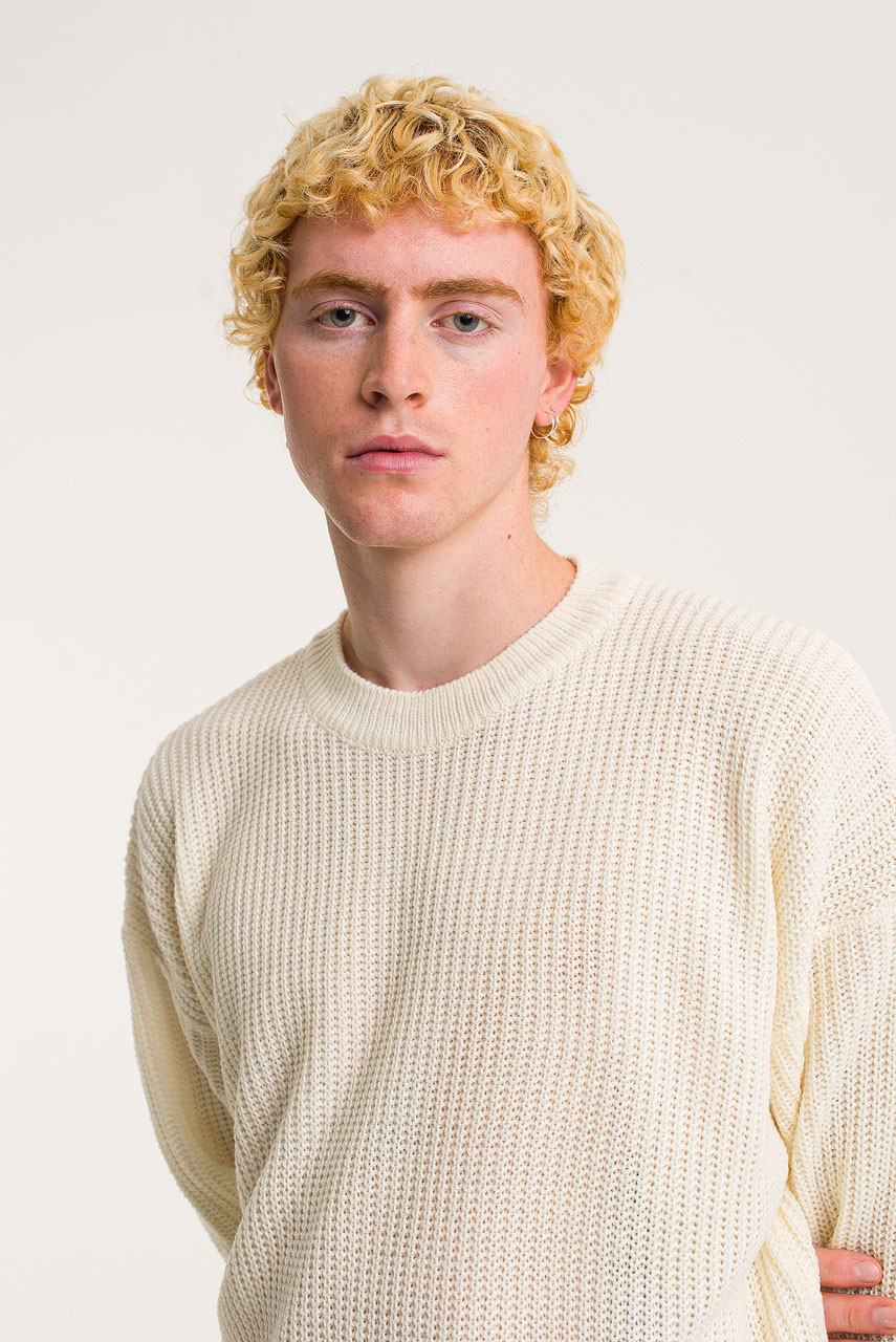 Menswear | Fisherman Jumper, Ivory