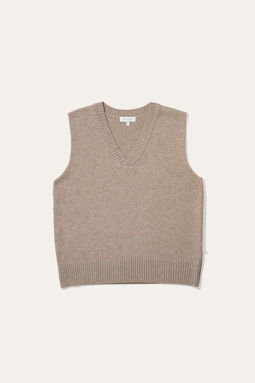 Menswear | Knit Vest, Oatmeal