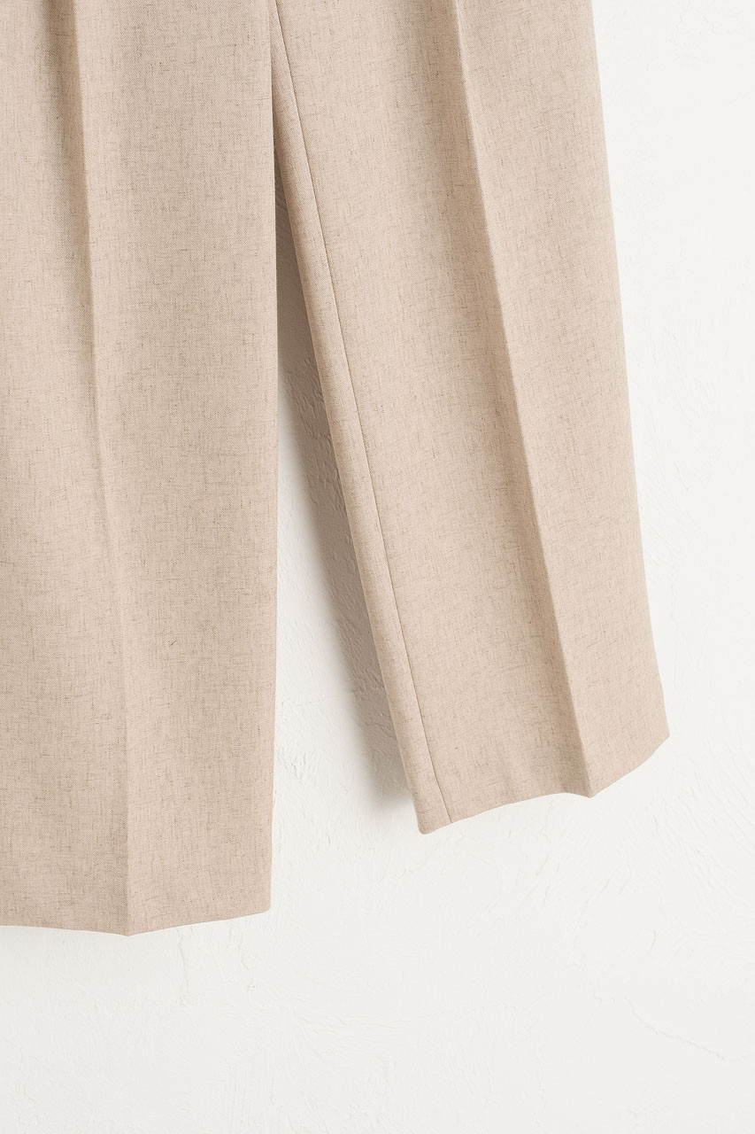 Milly Pleated Trousers, Beige