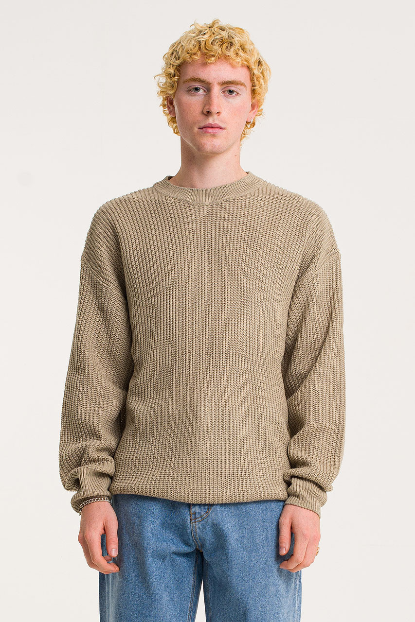Menswear | Fisherman Jumper, Beige