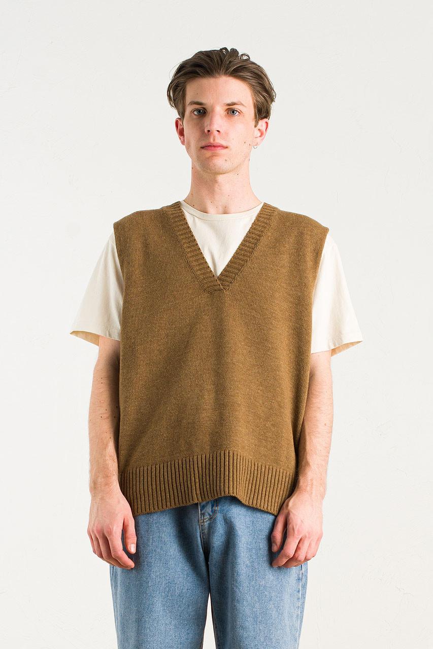 Menswear | Knit Vest, Brown