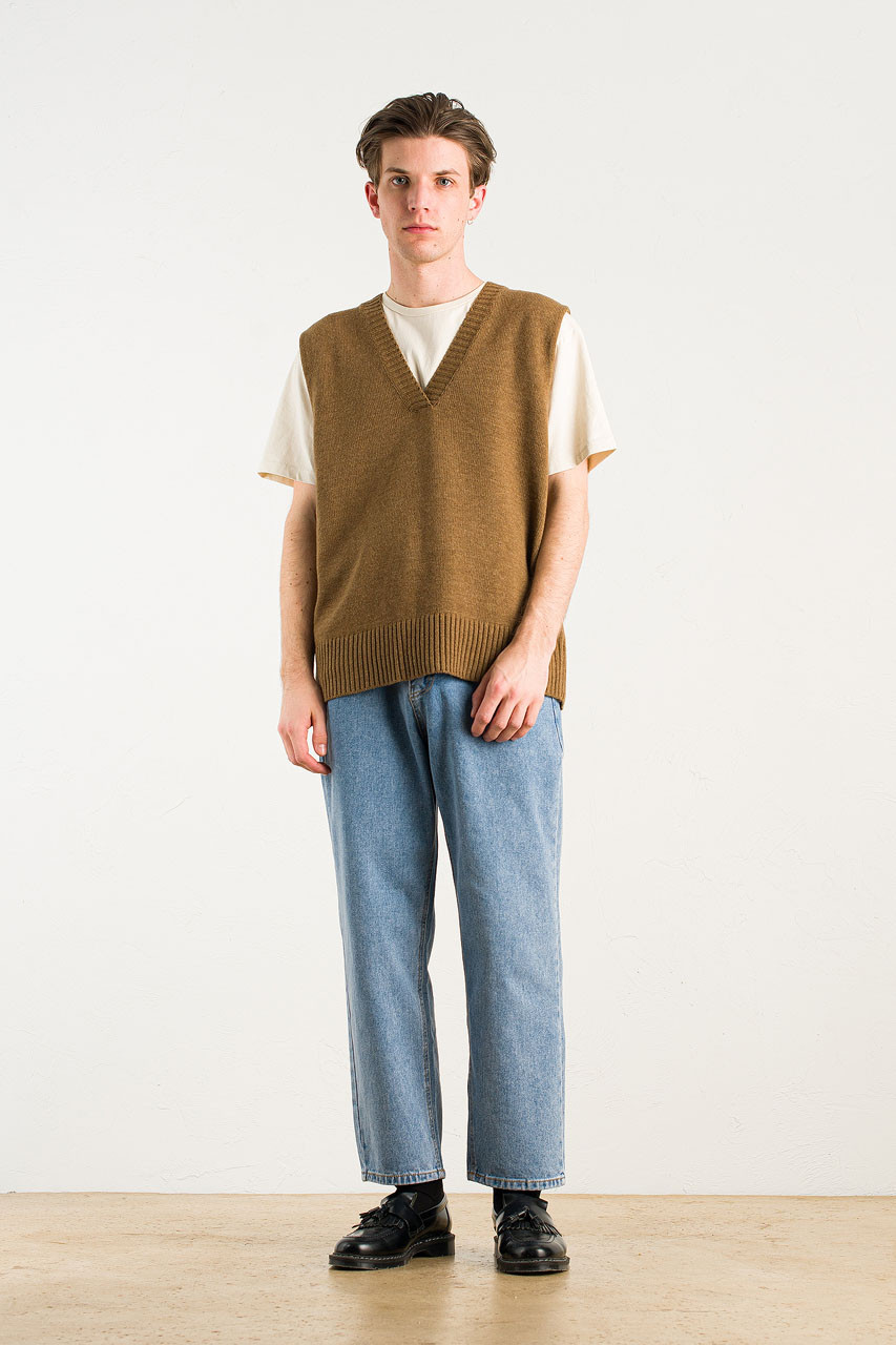Menswear | Knit Vest, Brown