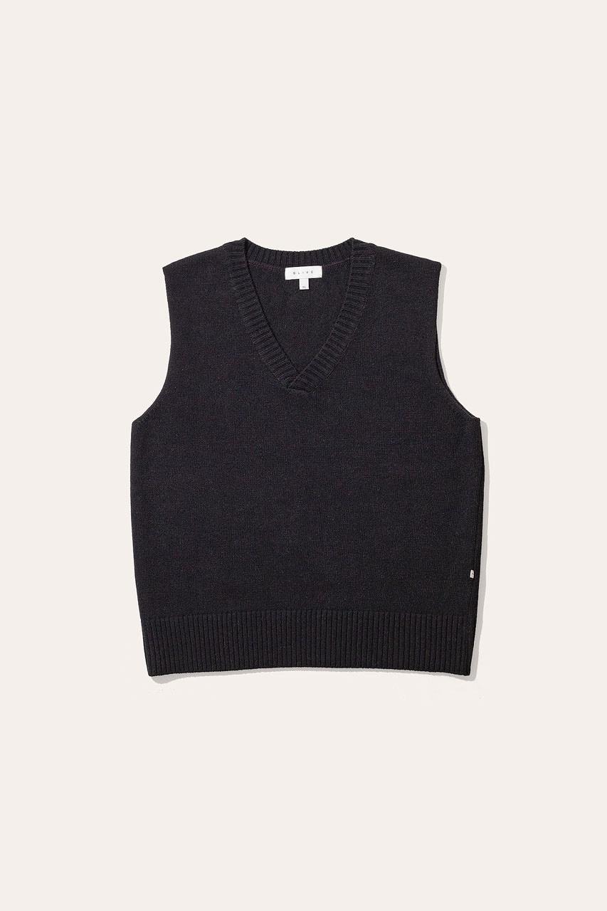 Menswear   Knit Vest, Black