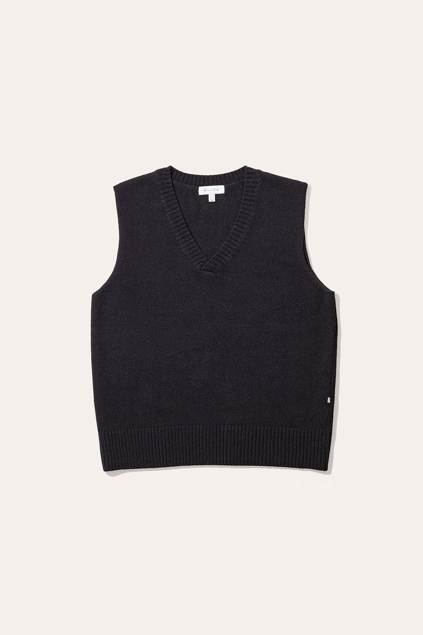 Menswear | Knit Vest, Black