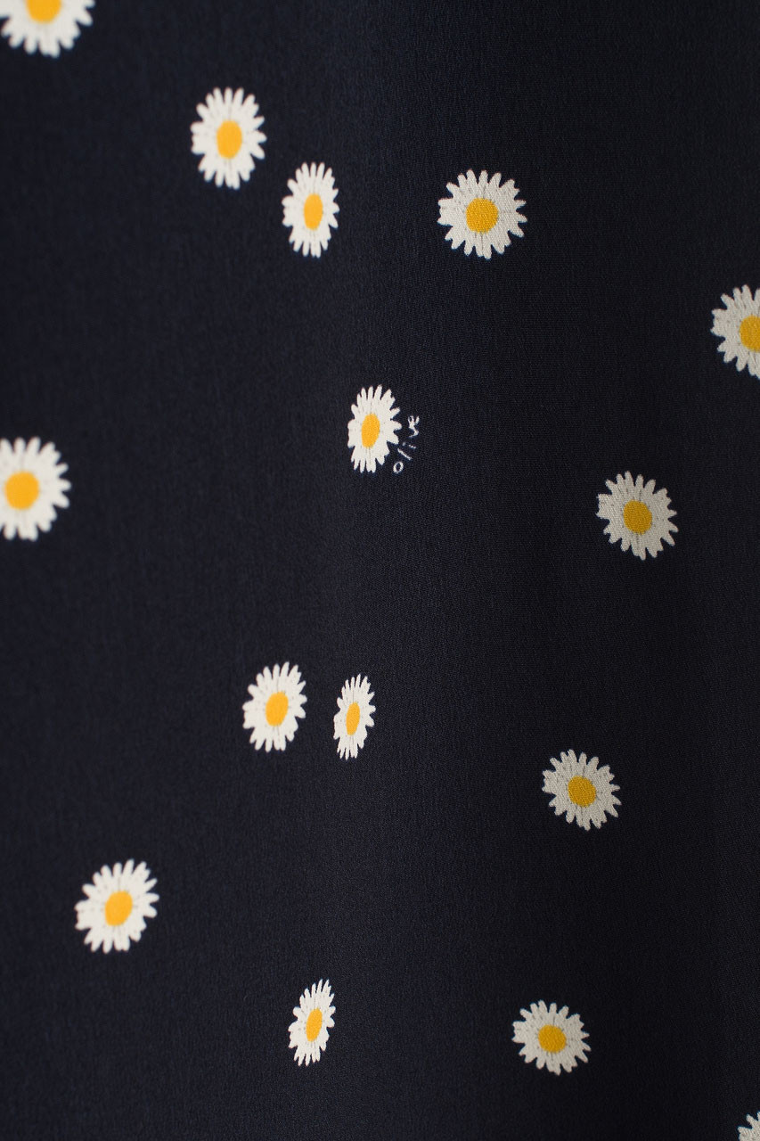 Daisy Flair Skirt, Navy