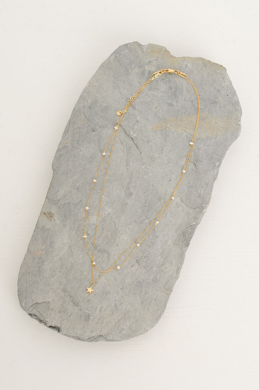 Canopus Constellation Necklace, Gold Plated