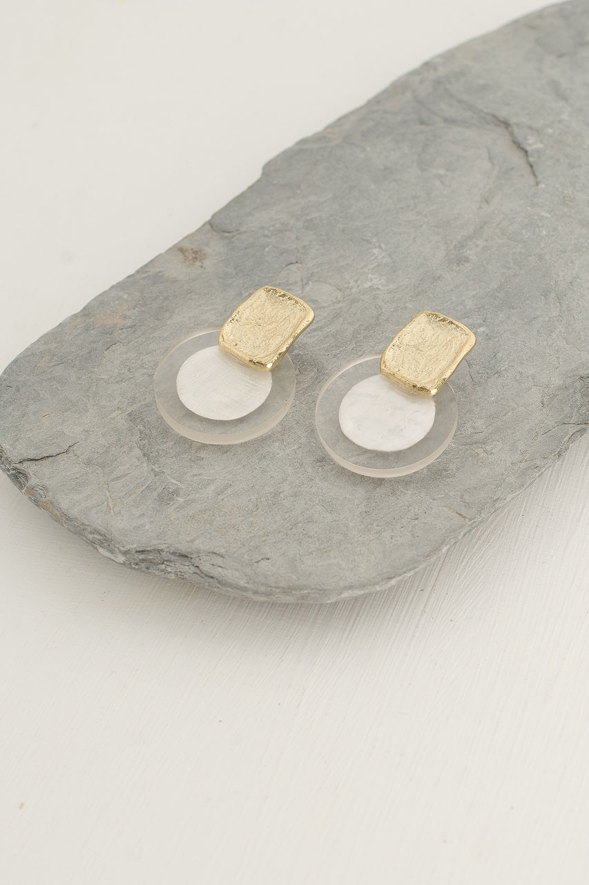 Luna Earrings, Gold Plated