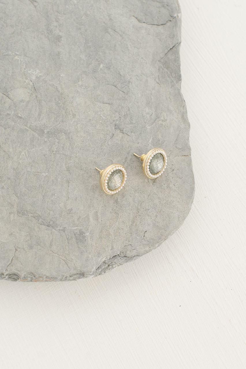 Amelia Circle Studs, Gold Plated