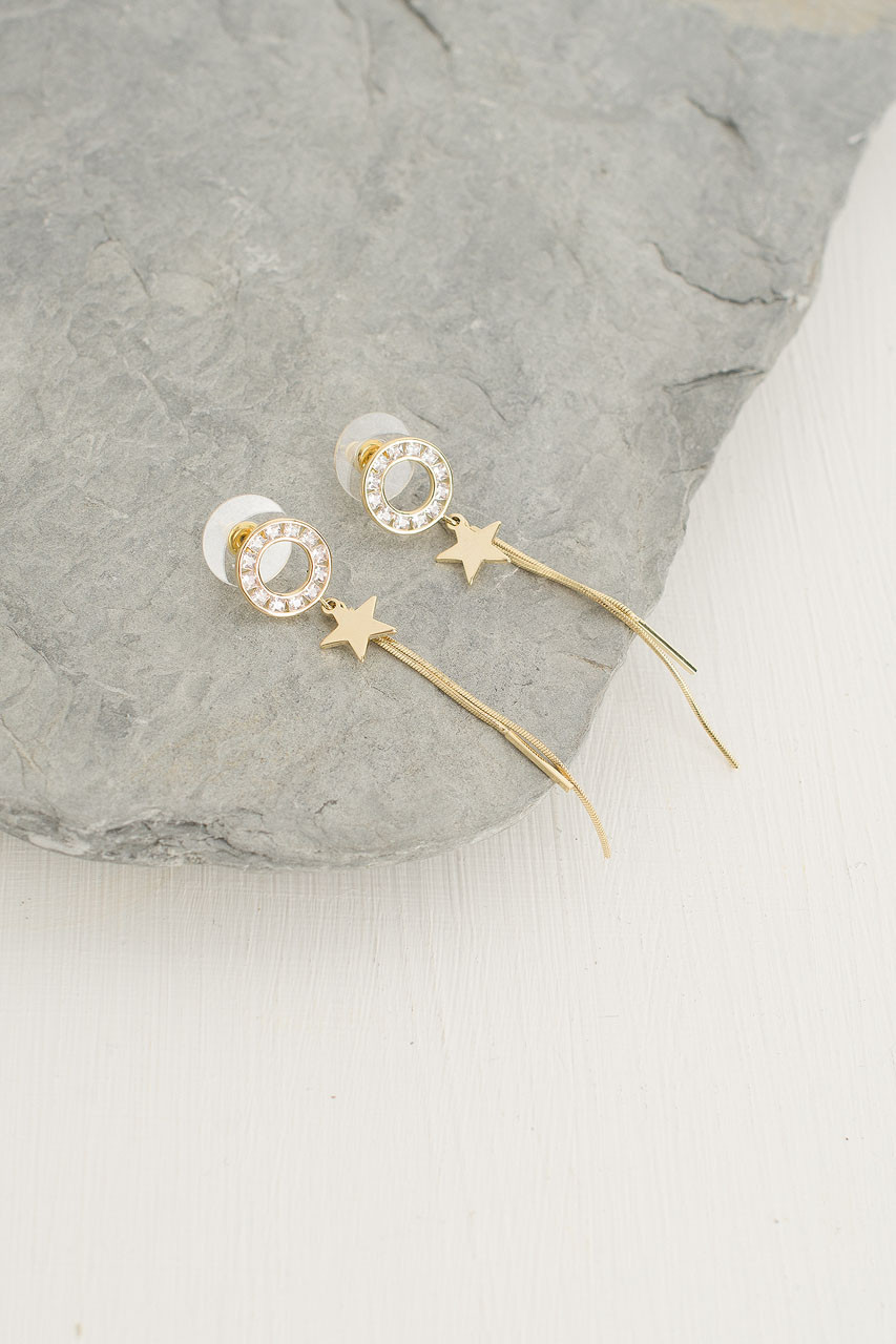 Stardust Earrings, Gold Plated