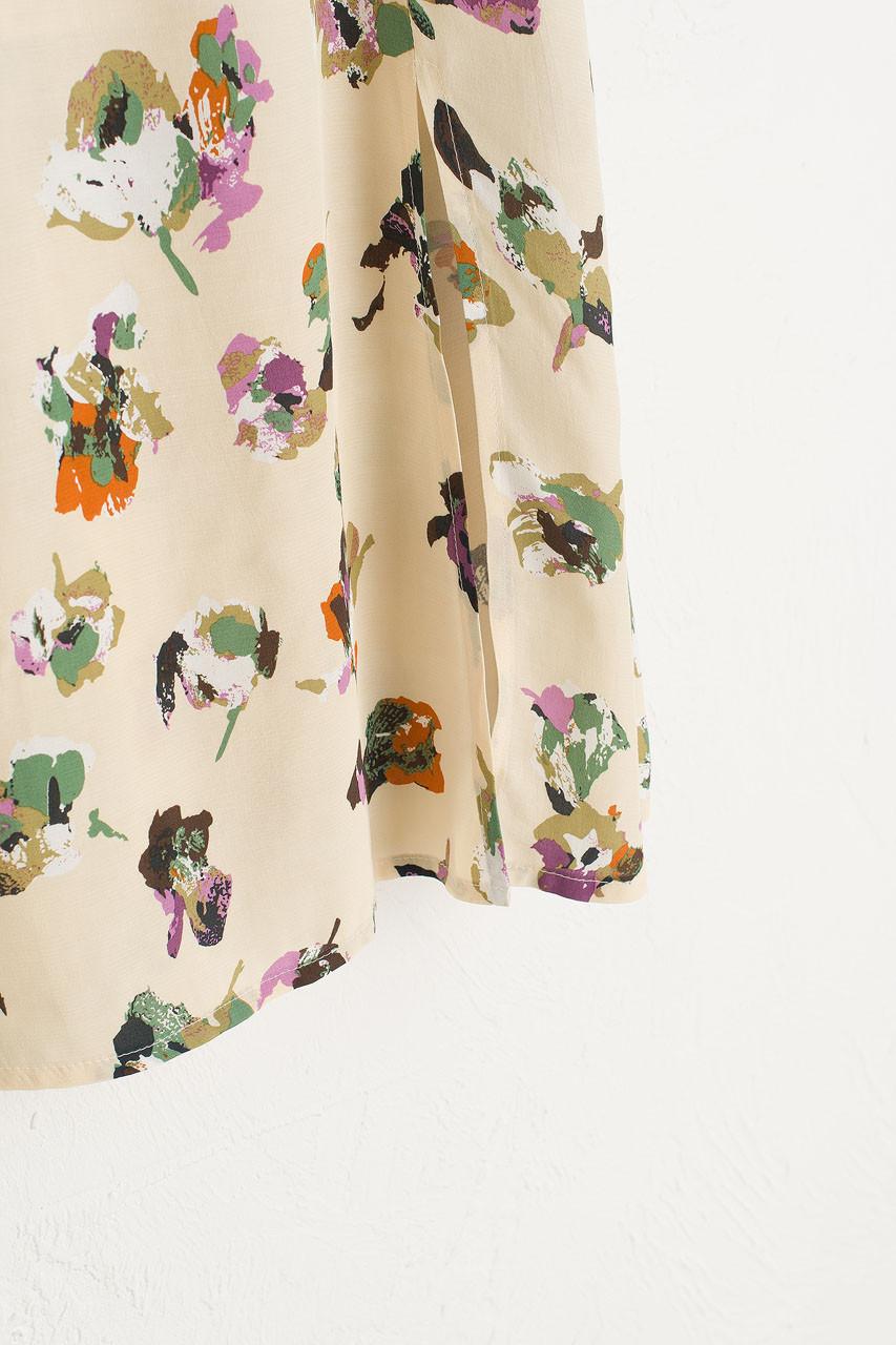 Painted Fleurs Skirt, Ivory