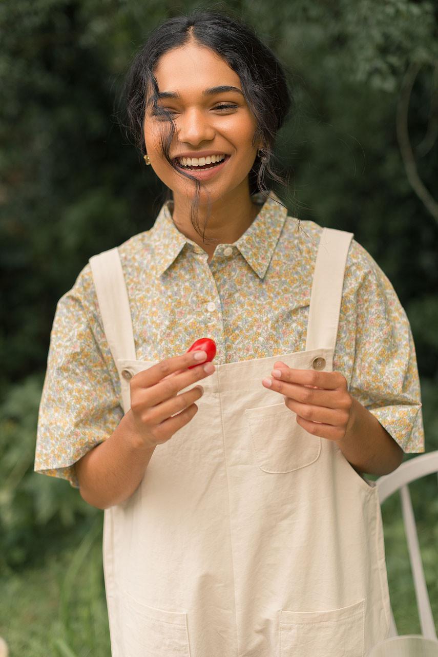 Kyoko Cotton Dungaree, Ivory