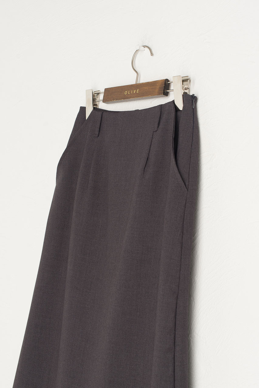 Belle Mid Length Skirt, Charcoal