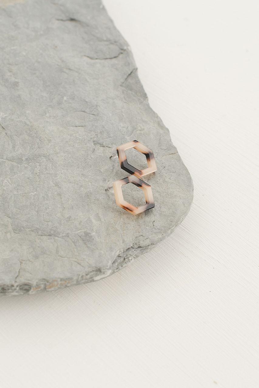 Sienna Studs, Ivory Tortoise Shell