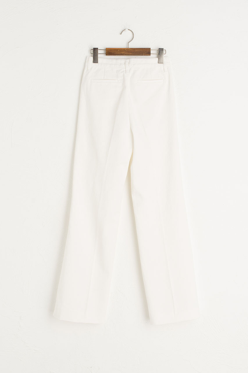 Denim Slacks, Ivory