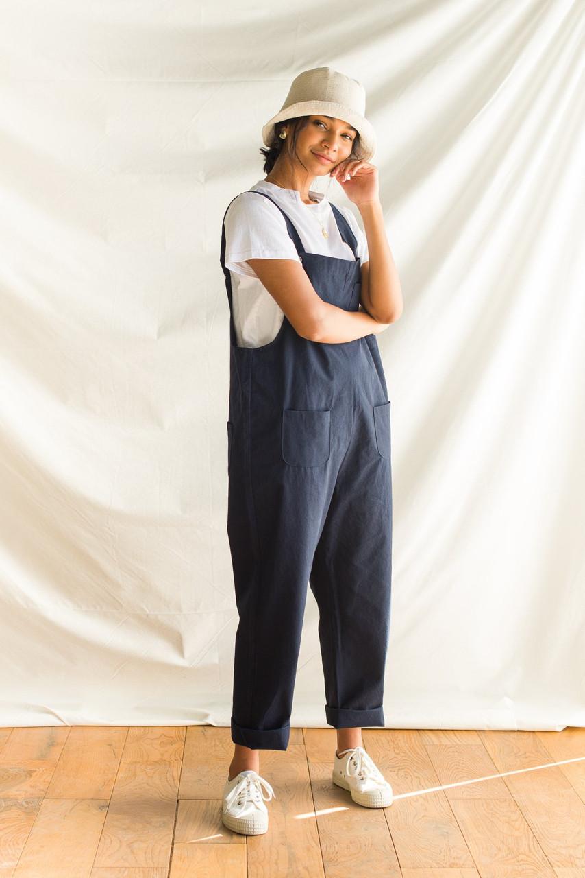 Kyoko Cotton Dungaree, Navy