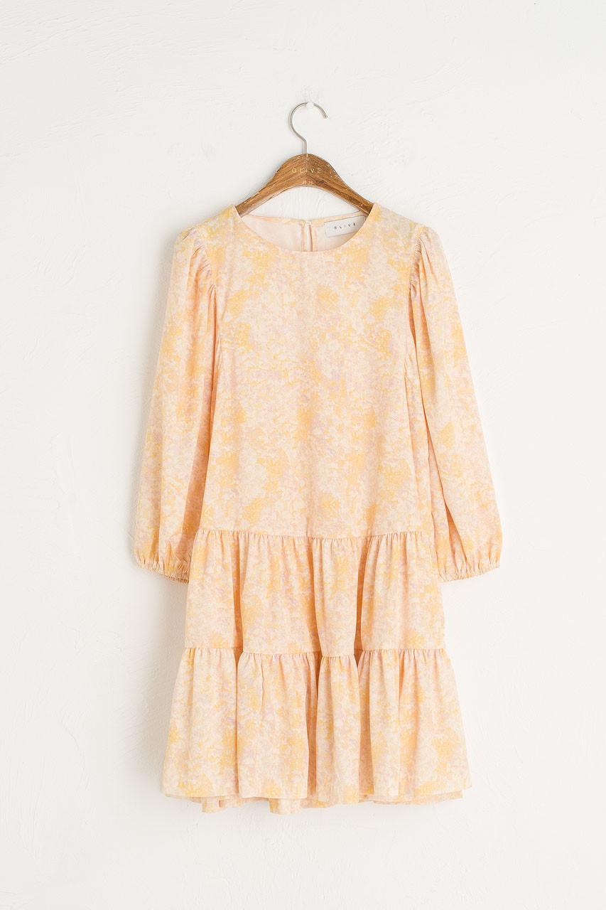 Tiered Flower Dress, Lemon