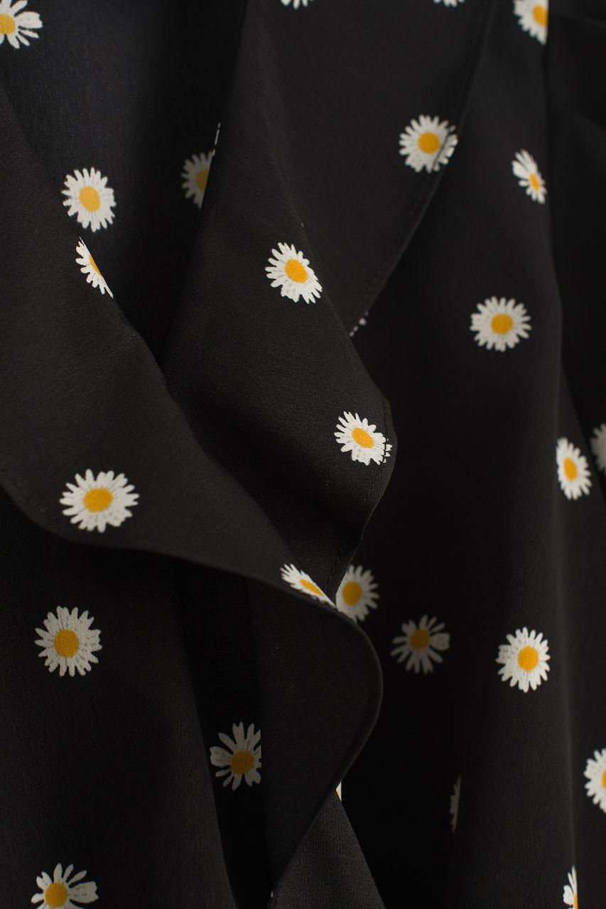 Daisy Frill Blouse, Black