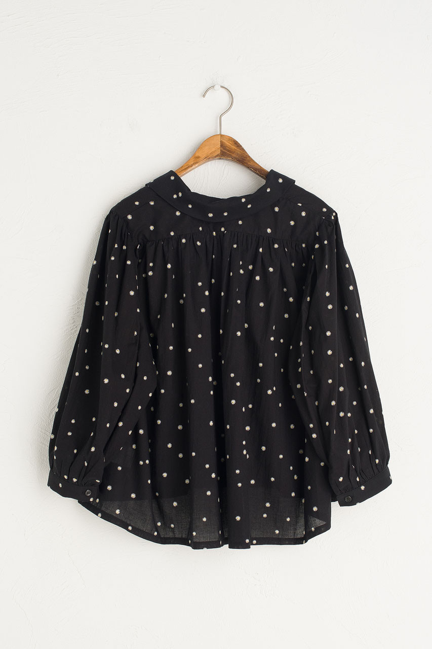 Blossom Flower Blouse, Black