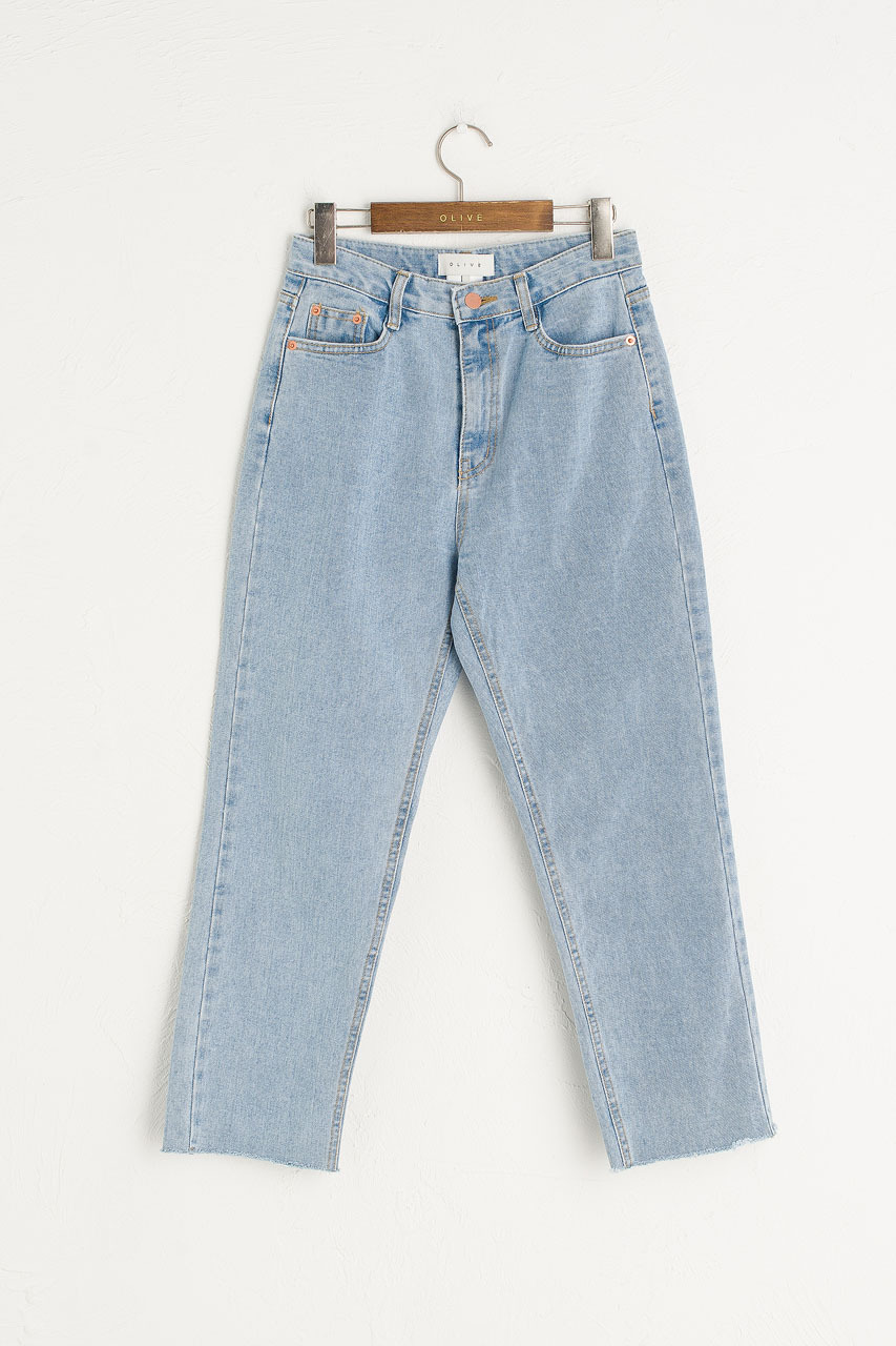 Raw Edge Slim Jean, Light Blue