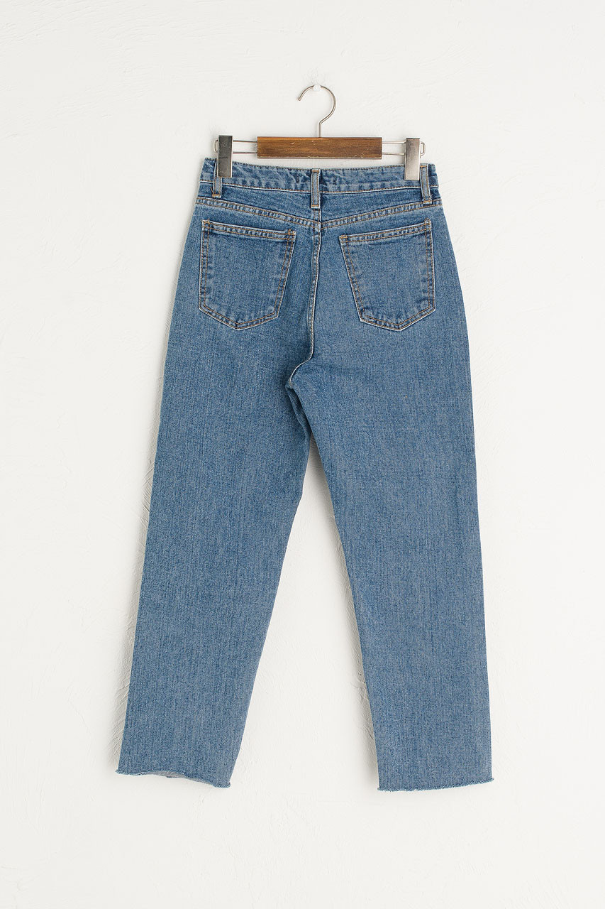 Raw Edge Slim Jean, Mid Blue