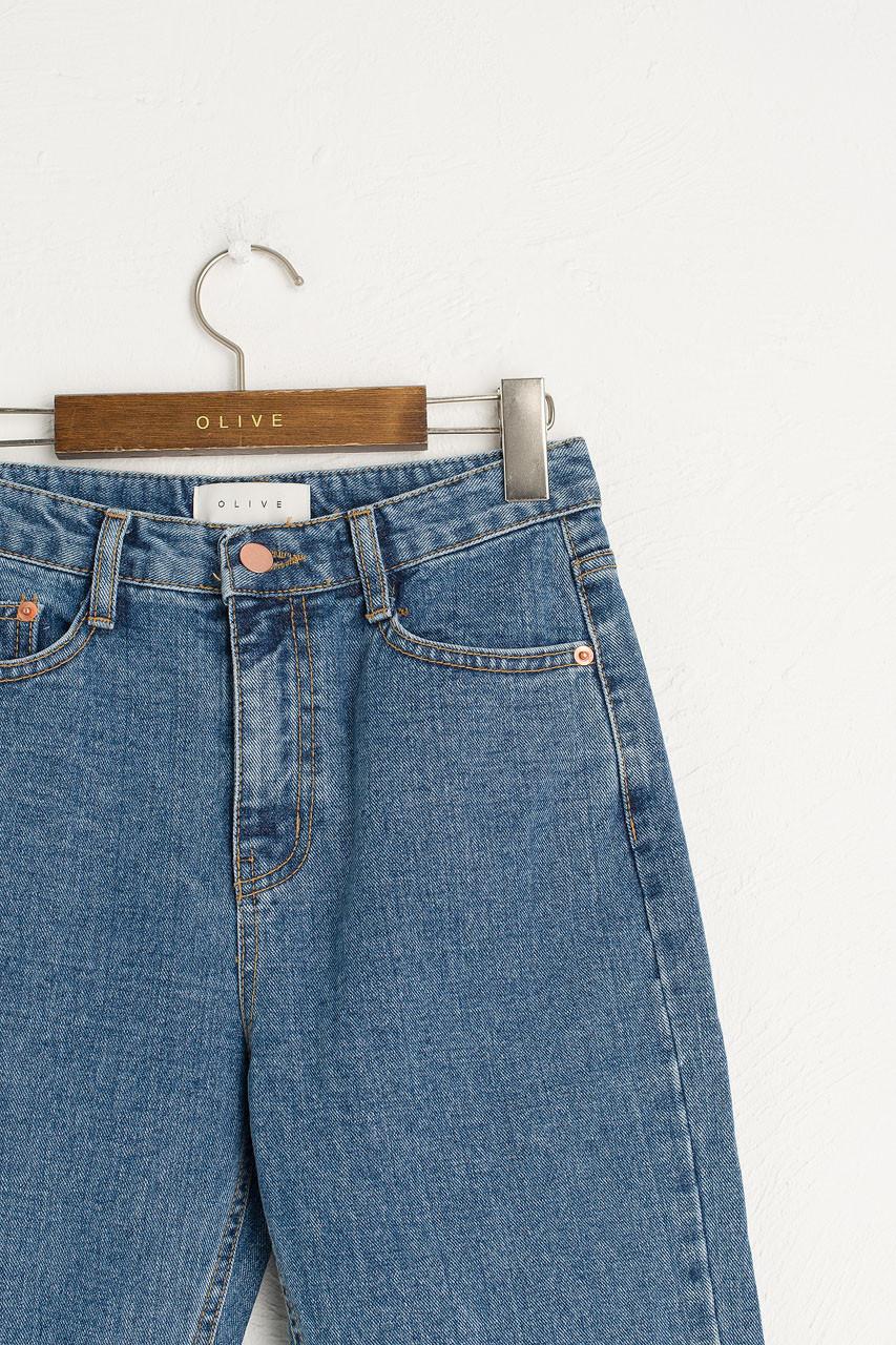 Raw Edge Slim Jean, Mid Blue