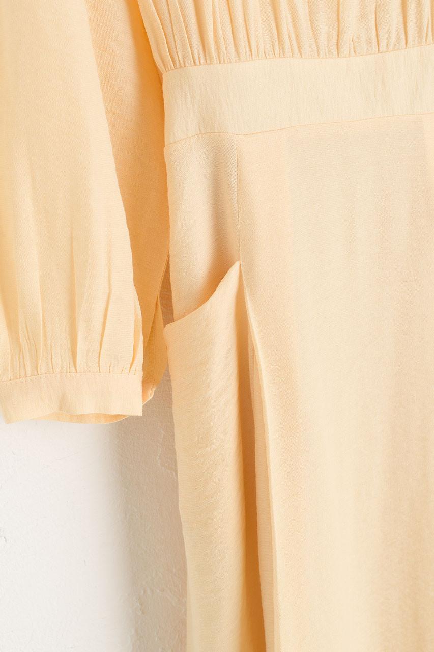 Poppin Square Neck Dress, Forsythia