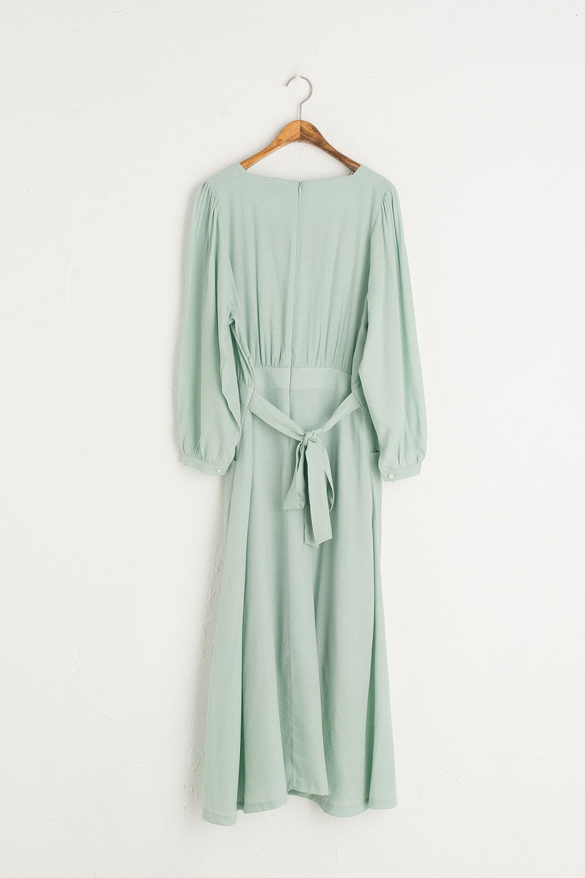 Poppin Square Neck Dress, Mint