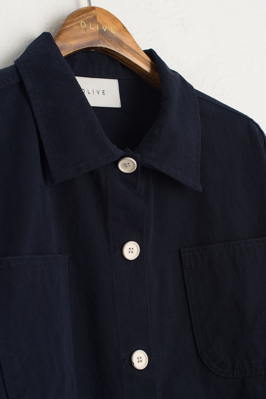 Risa Four Pocket Jacket, Navy