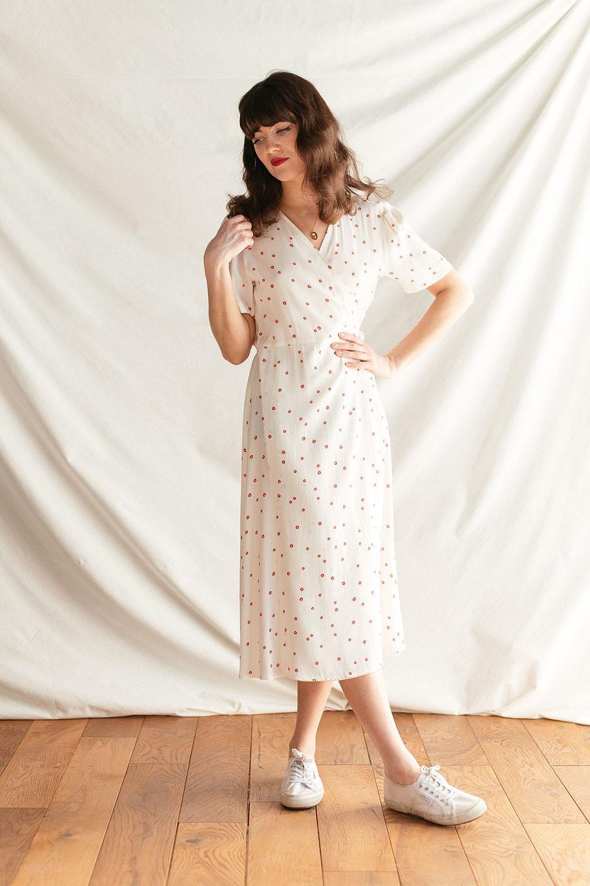 Abigail Wrap Dress, Ivory