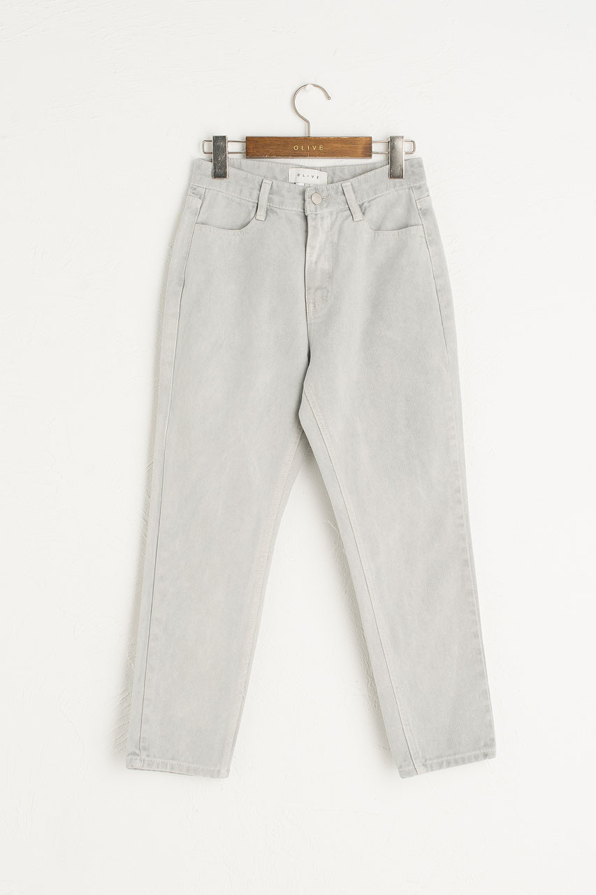 Washed Colour Slim Jean, Light Grey