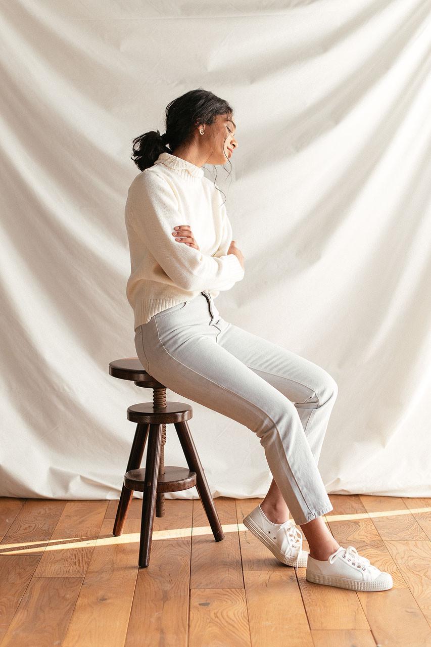 Washed Colour Slim Jean, Light Grey