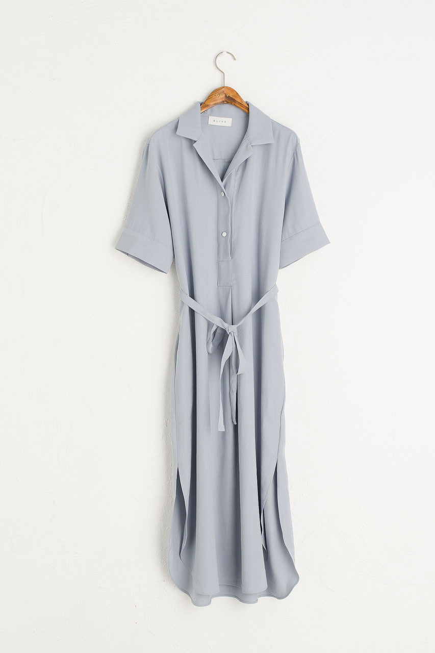 Casa Long Shirt Dress, Blue