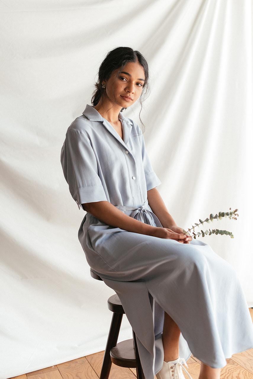Casa Long Shirt Dress, Blue
