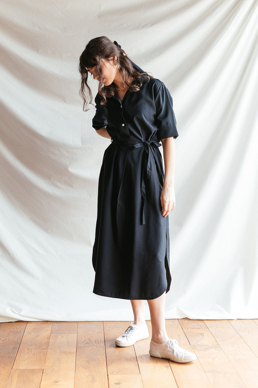 Casa Long Shirt Dress, Navy