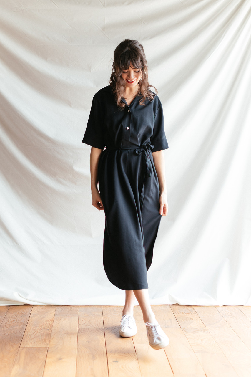 Casa Long Shirt Dress, Navy