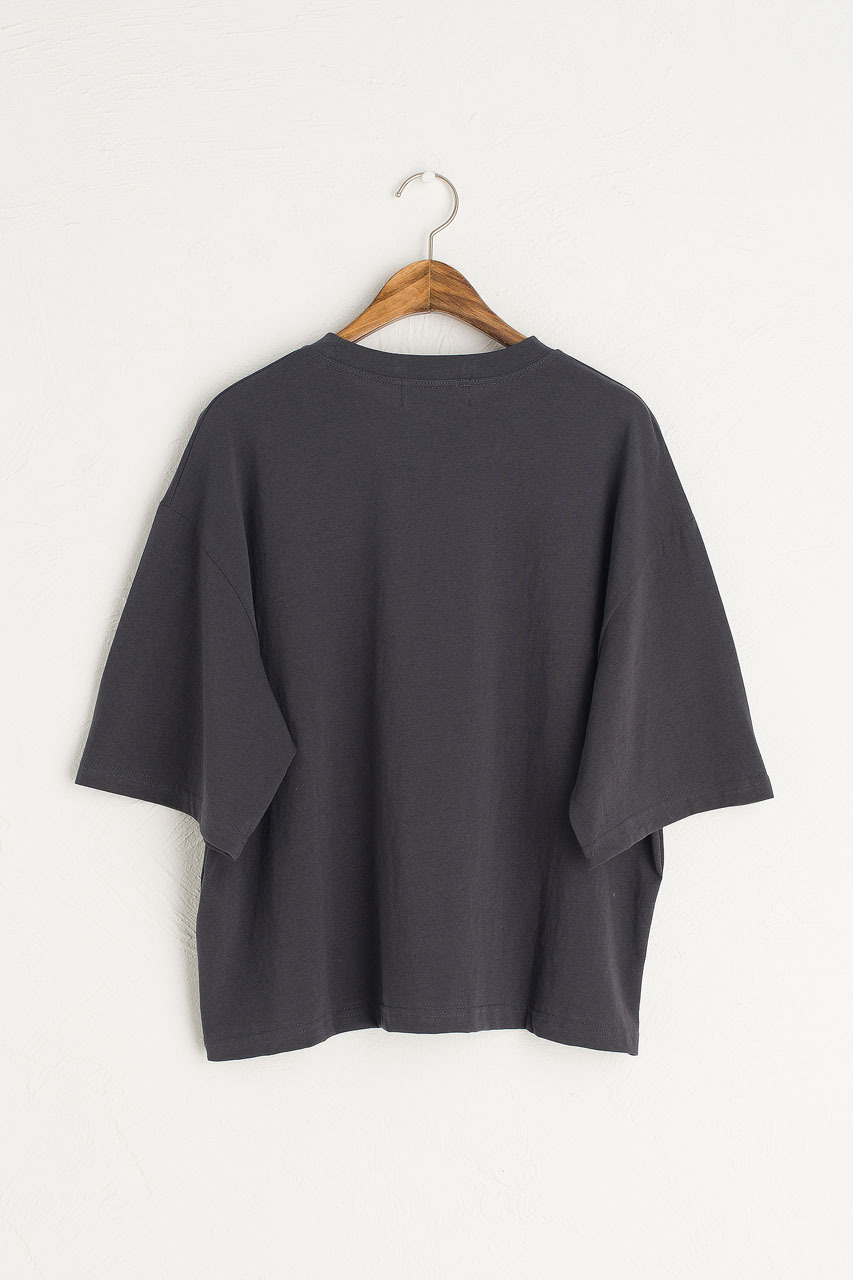 Aoi Short Sleeve Tee, Charcoal