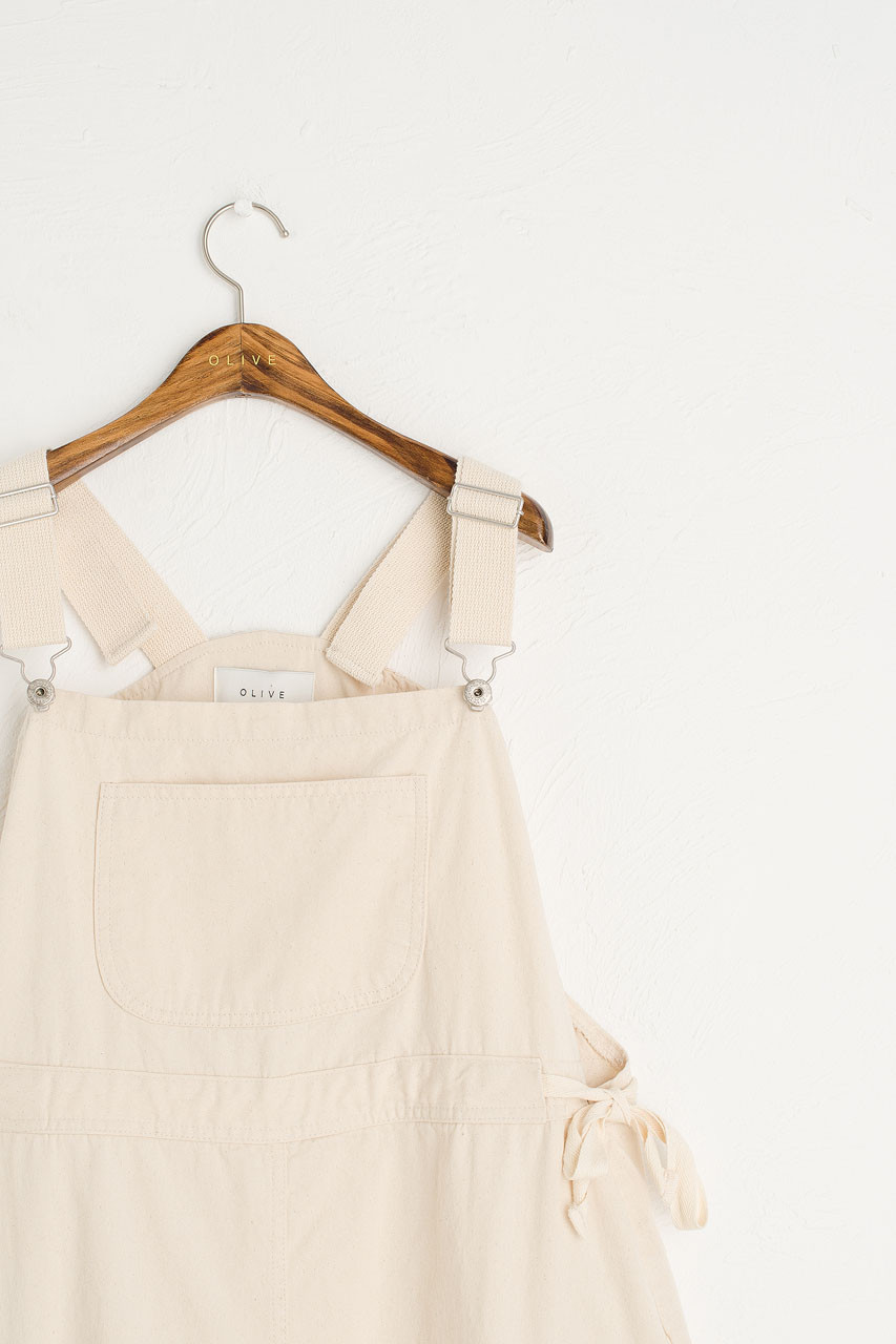 Aria Apron Dress, Ivory