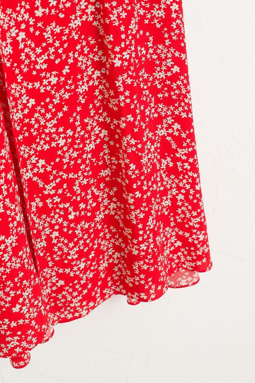 Julianne Wrap Dress, Red