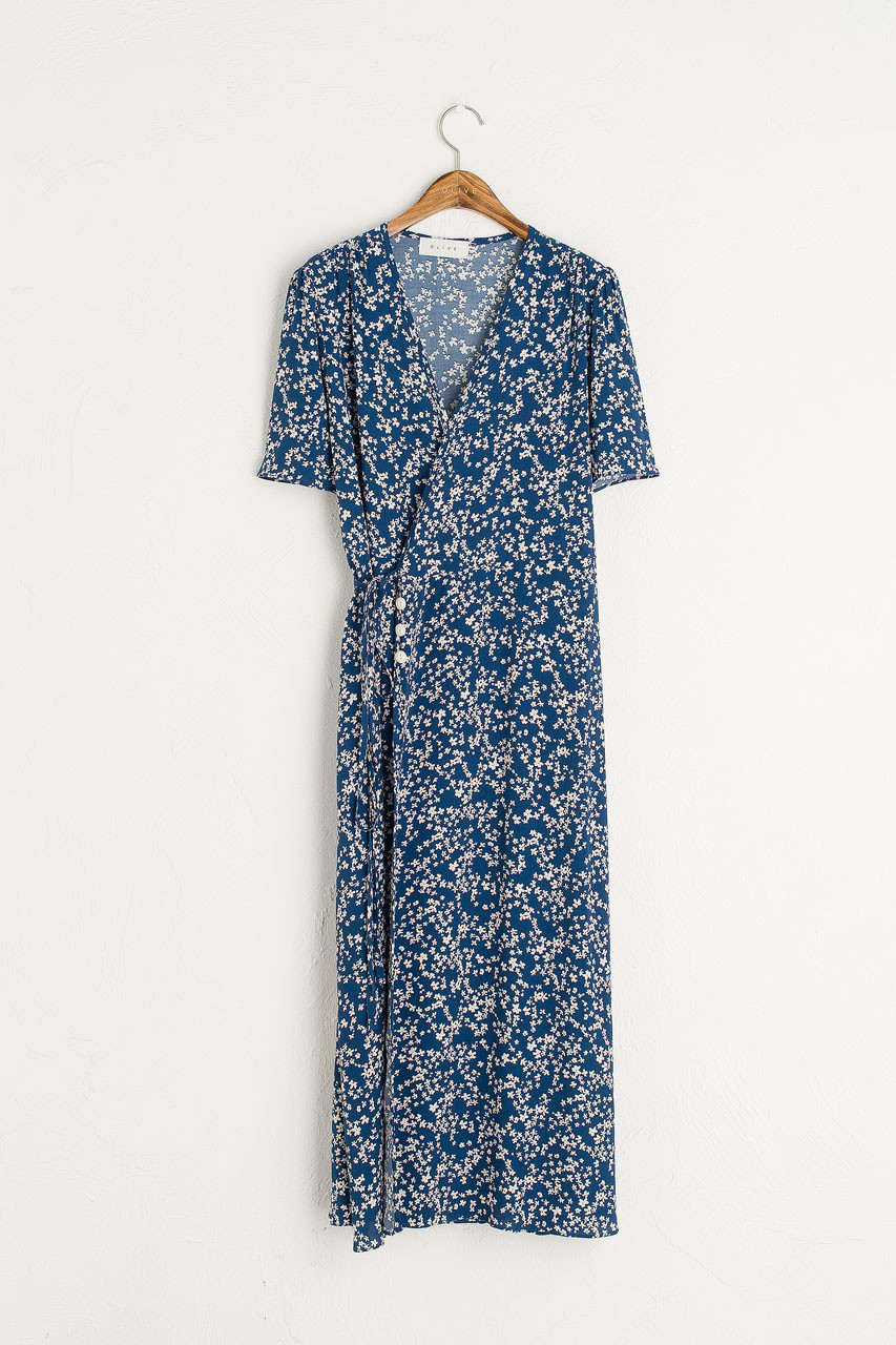 Julianne Wrap Dress, Blue