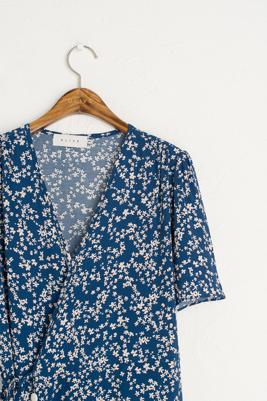 Julianne Wrap Dress, Blue