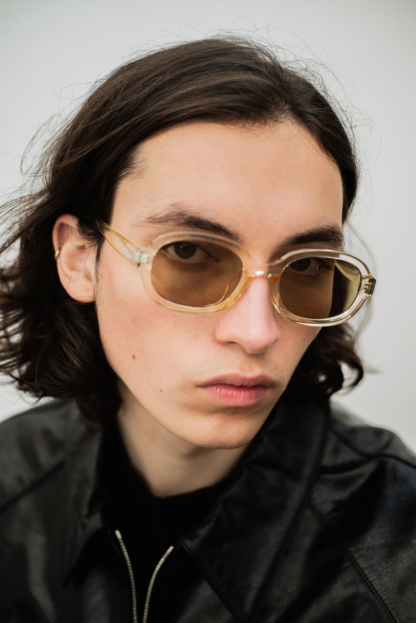 Menswear | Visby Sunglasses, Transparent Yellow