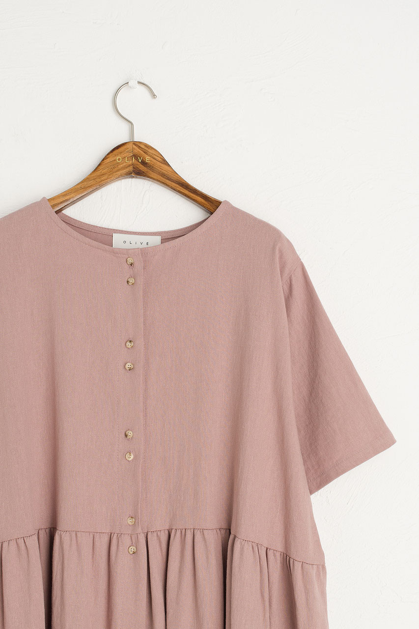 Himari Boxy Dress, Pink