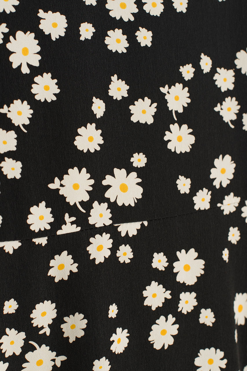 Oxeye Daisy Cami Dress, Black