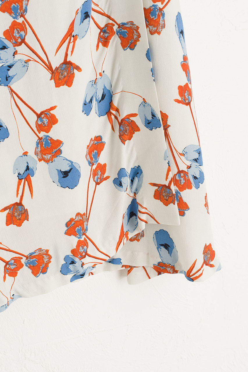 Lotus Wrap Style Skirt, Ivory