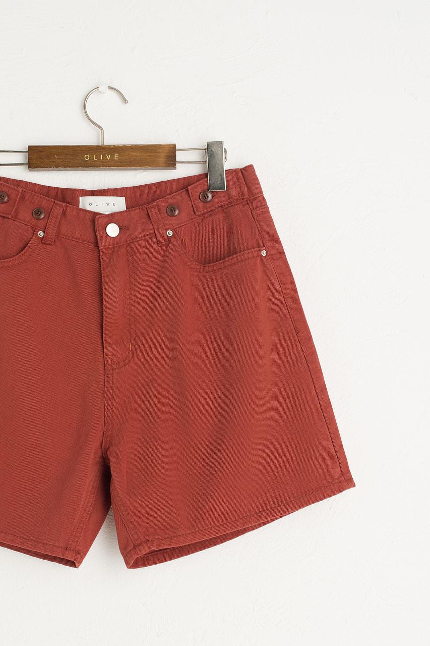 Brigitte Boxy Shorts, Brick