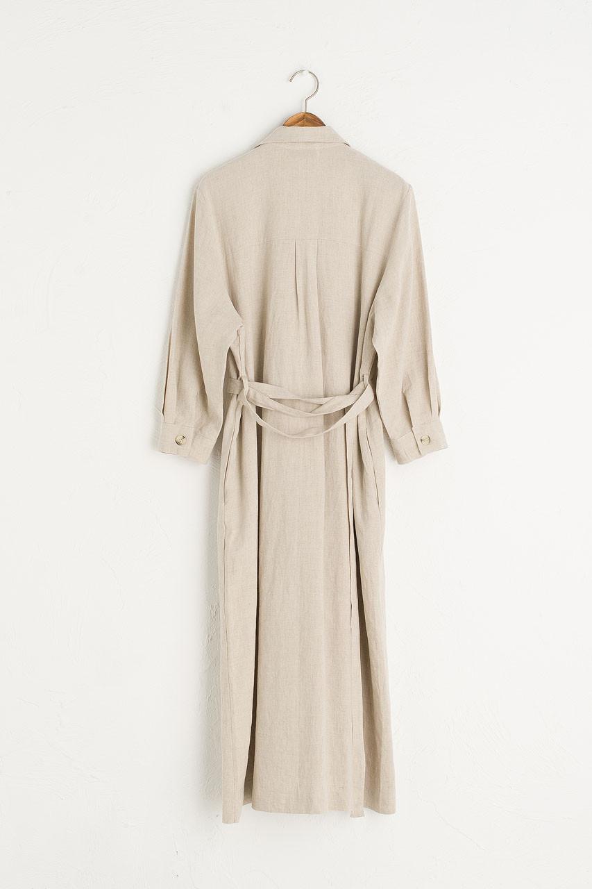 Niko Shirt Robe Dress, Oatmeal